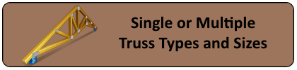 single multiple truss